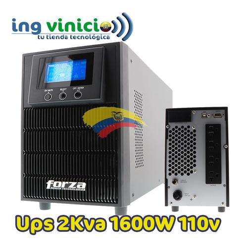 ups on-line forza fdc-2000t de 2kva 1600w 120v doble convers