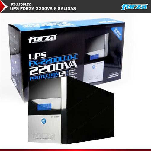 ups regulador forza 2kva 2200va lcd 1200w 8 tomas pc gamer