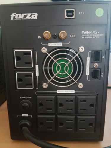 ups - regulador forza fx-2200lcd  1200w 2200va