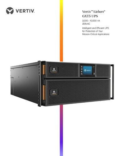 ups vertiv - liebert online gxt5-6000mvrt4uxln 6kva/6000w