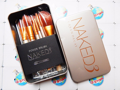 urban decay naked 3 brochas caja set o kit x 12 maquillaje