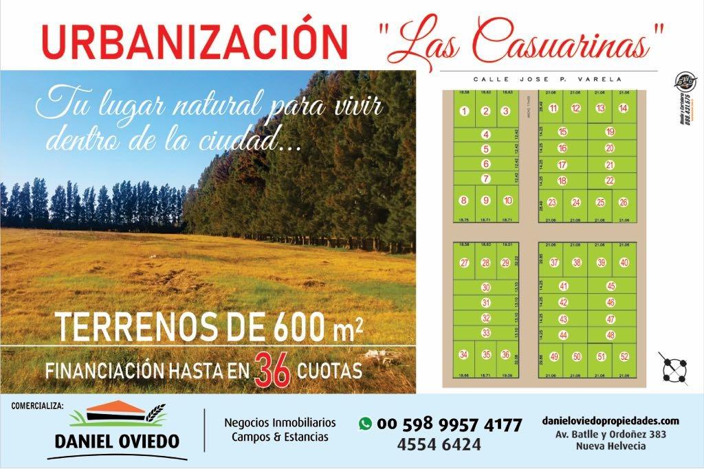urbanización  las casuarinas  terrenos de 600 m2.