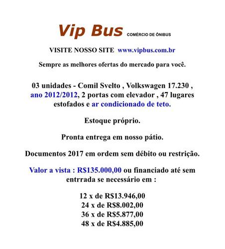 urbano comil com ar condicionado 2012 financia 100% vipbus