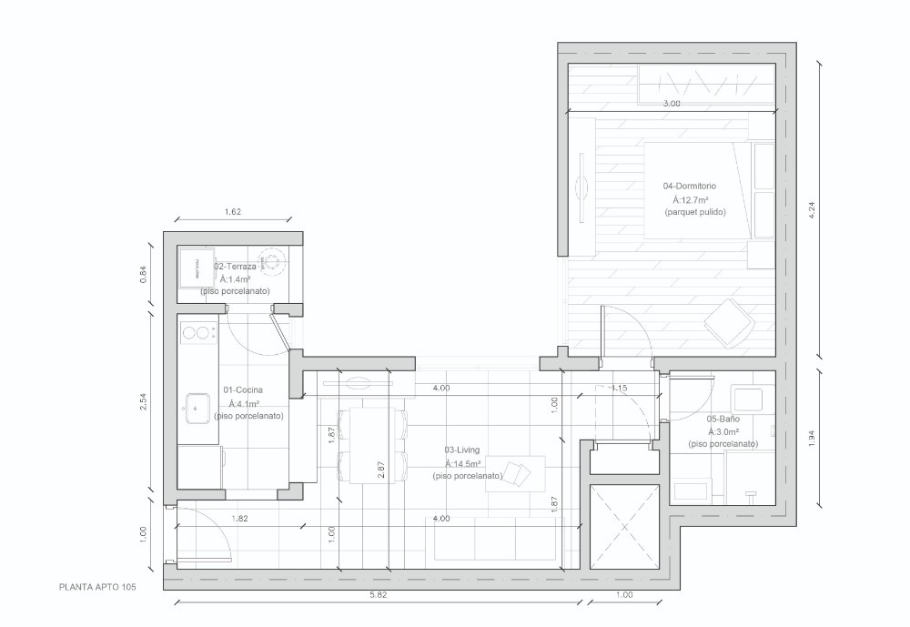 urgente oportunidad apartamento 1 dormitorio