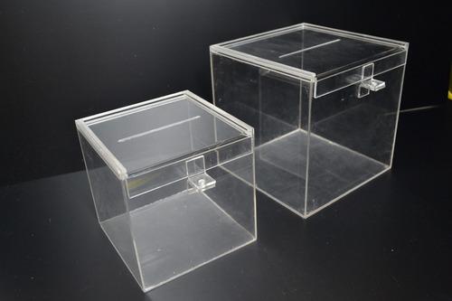 urna acrilico 15x15x20