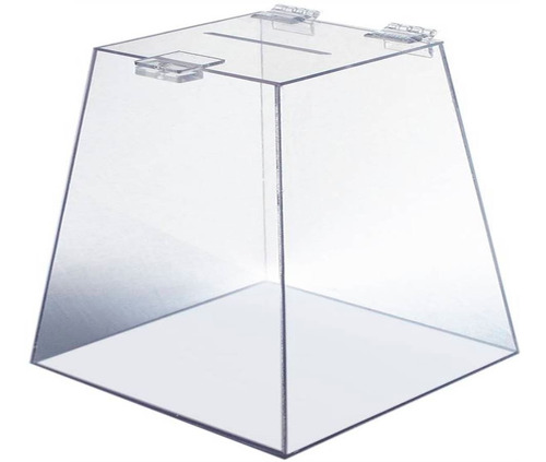 urna acrílico 20 cm x 20 cm transparente