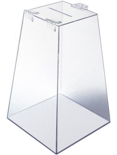 urna acrílico 30 cm x 20 cm transparente