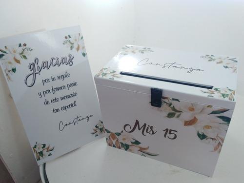 urna buzón  de madera boda  15 años cumples personalizado