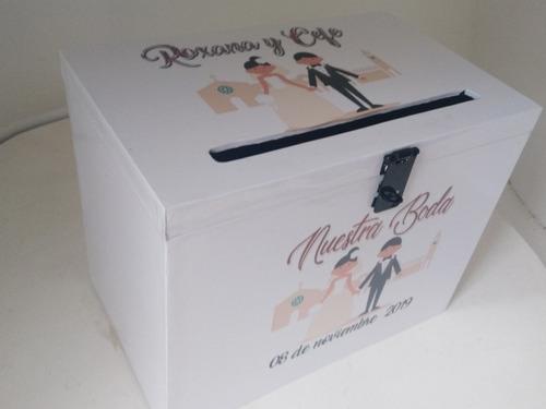 urna buzón madera boda 15 años cumples personalizado cuotas