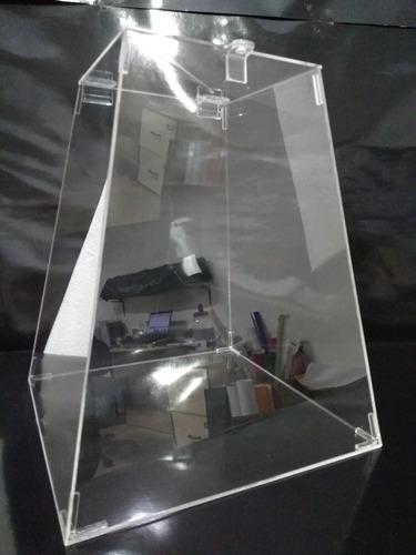 urna em acrílico transparente (cristal) c/ 30cm de altura