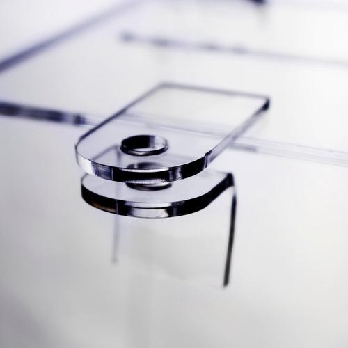 urna média cubo em acrílico 20 cm x 20 cm - pronta entrega!