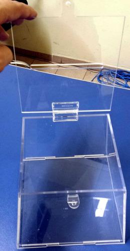 urna pirâmide em acrílico transparente (cristal) 18x14x15cm