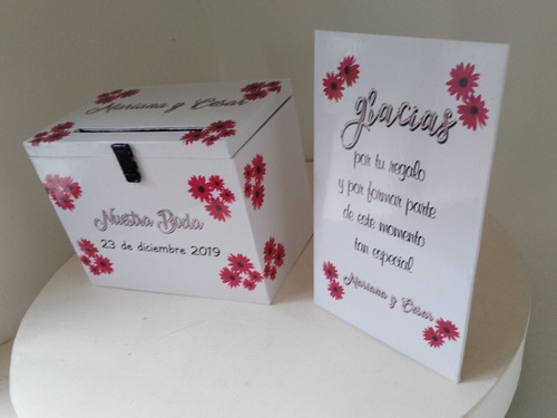 urna regalos buzon  especial bodas/ casamientos