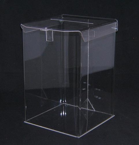 urnas acrílico 15x15x20 cm. sorteos, sugerencias. urna