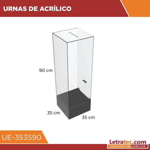 urnas buzón acrílico letratec ue-353590 sorteo