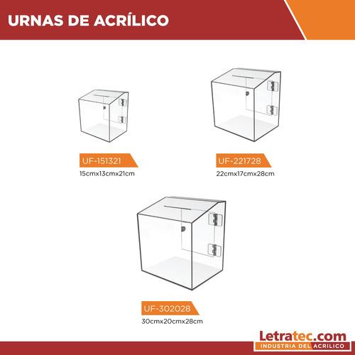 urnas buzón acrílico letratec uf-221728