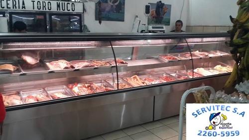 urnas de carnes, pollo y queso