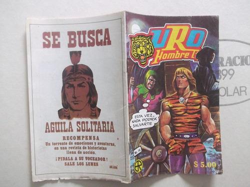 uro hombre tigre,cómic n.14 octubre de 1980 editora ra-ca-na