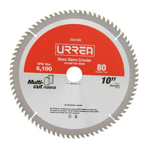 urrea disco para sierra circular para aluminio  mod:dsa10100