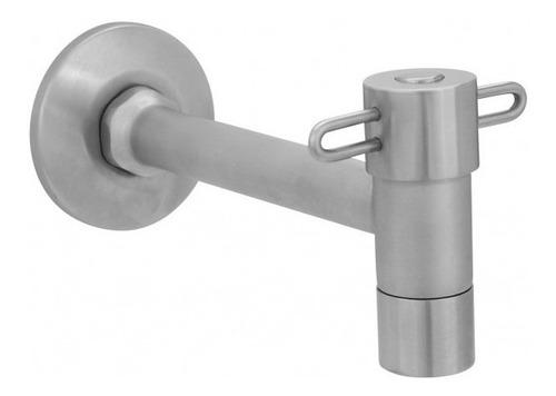 urrea llave individual para lavabo con chapetón inox