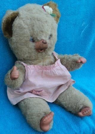 ursa peposa antiga e rara estrela década de 70 (294)