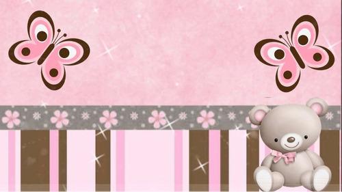 ursa rosa e marrom papel arroz tamanho a4