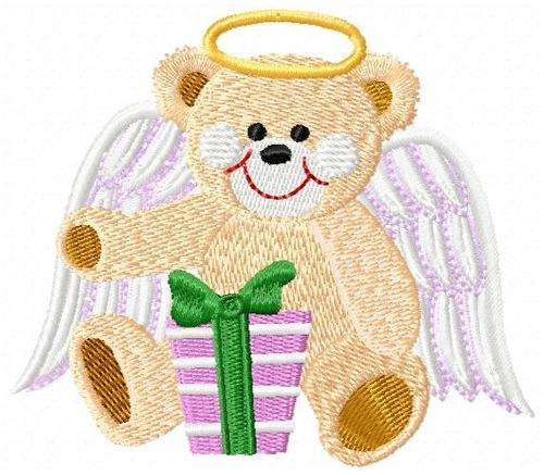 ursinho anjo 002 - coleção de matriz de bordado