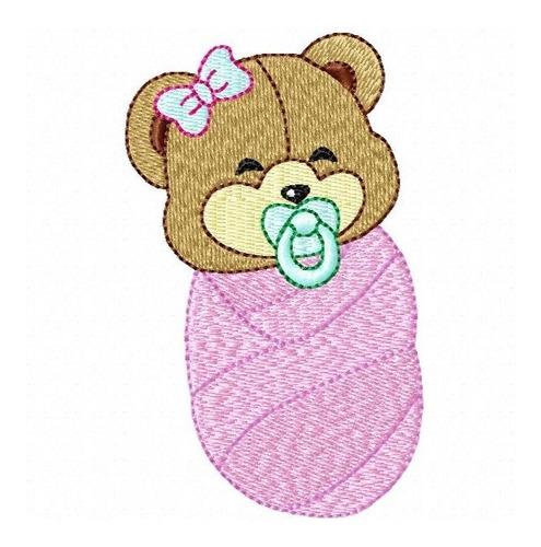 ursinho baby happy - coleção de matriz de bordado