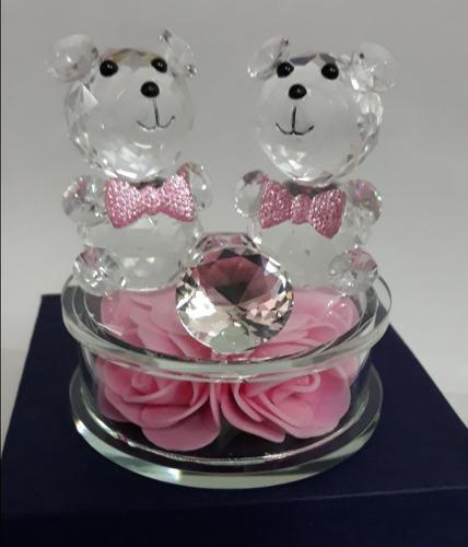 ursinho enfeite de cristal de vidro decoração urso