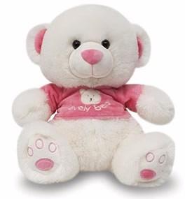 ursinho lovely de pelúcia - rosa! pelúcia original nova