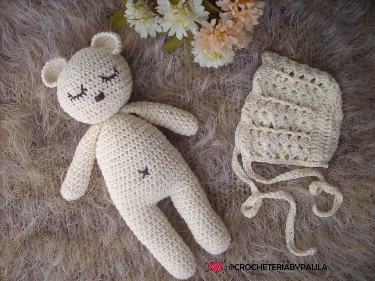 ursinho newborn amigurumi com touca em crochê. Carregando zoom. 11af318e4a7
