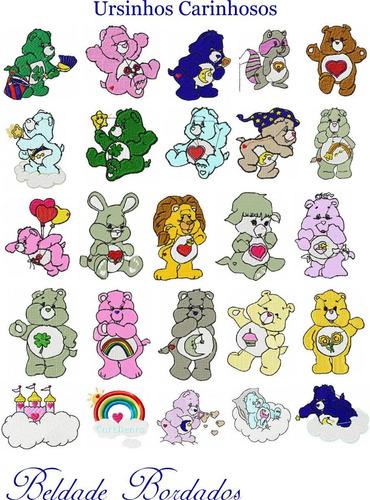 ursinhos carinhosos - 25 matrizes de bordado