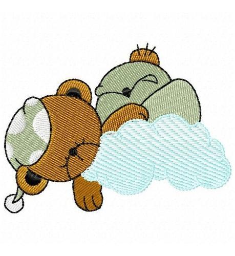 ursinhos soneca - coleção de matriz de bordado