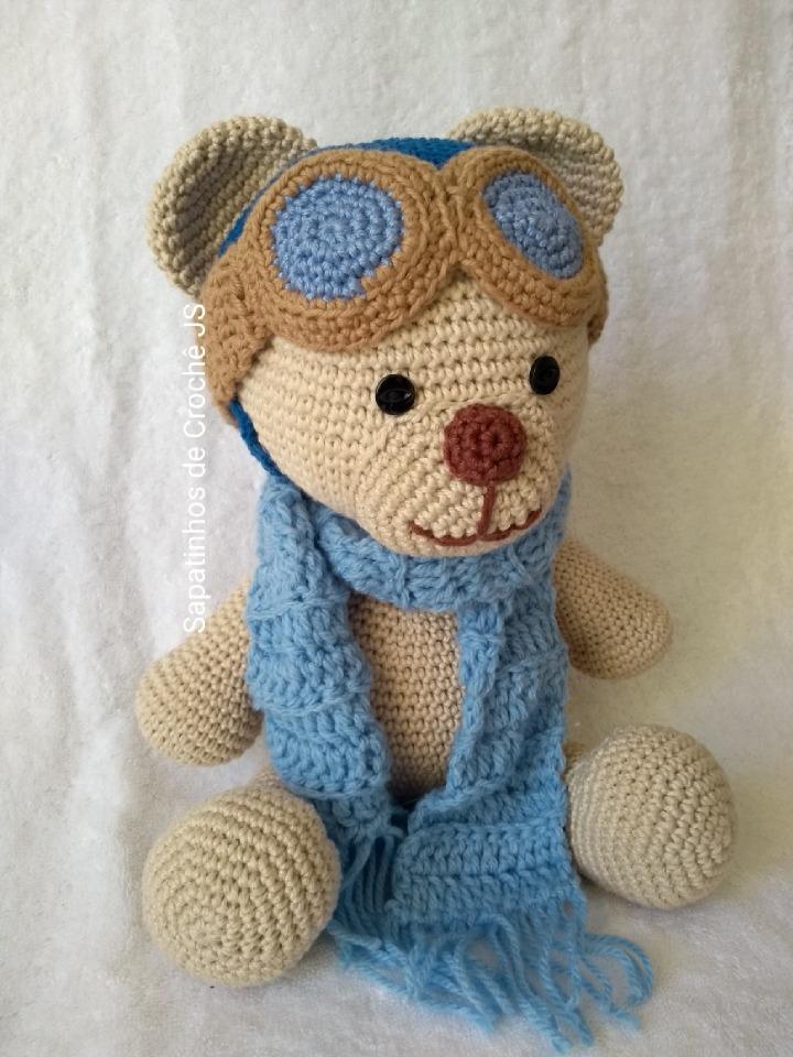 Urso De Croche Amigurumi - R$ 110,00 em Mercado Livre | 960x720