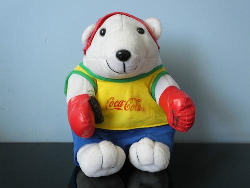urso coca-cola boxe pelúcia antigo raro
