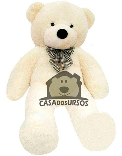 urso creme branco gigante 1,75 mt 175 cm presente namorados