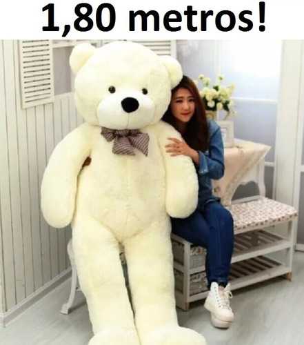 urso creme de pelúcia gigante 180cm importado pronta entrega