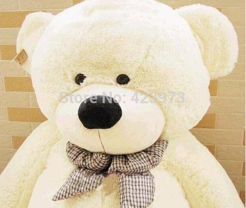 urso creme de pelúcia grande gigante 180 cm pronta entrega