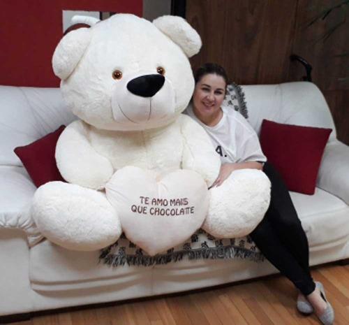 urso creme gigante 1,30 mts 130cm o maior presente de todos