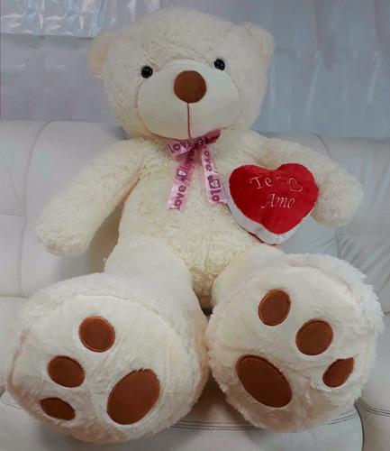 urso creme romântico coração frase te amo dia dos namorados