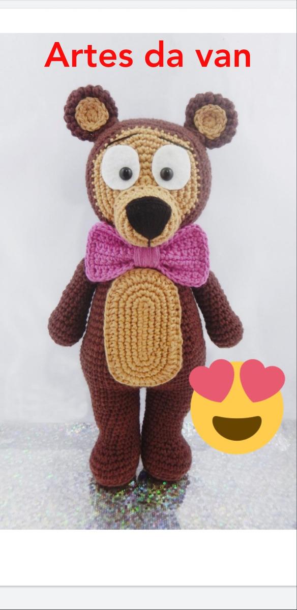 O queridinho em versão menor 30cm 🐻✈ Urso aviador #amigurumilove ... | 1200x584