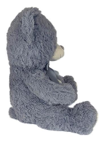 urso de pelúcia 60cm cinza