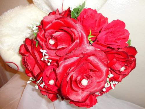 urso de pelúcia com buquê de rosas vermelhas - dia das mães