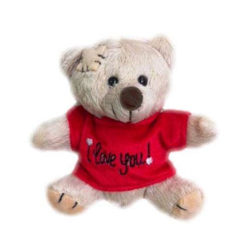 urso de pelúcia dodói mini i love you w.u