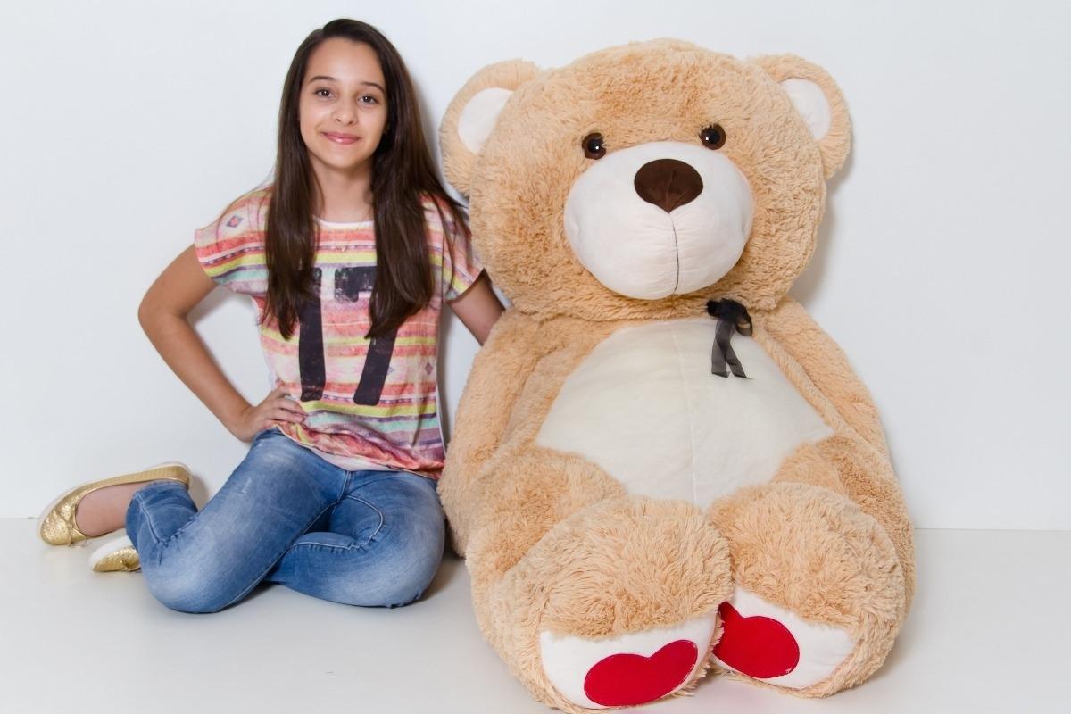 12a4dcba6 urso de pelúcia gigante teddy 1 metro e 50cm frete gratis. Carregando zoom.