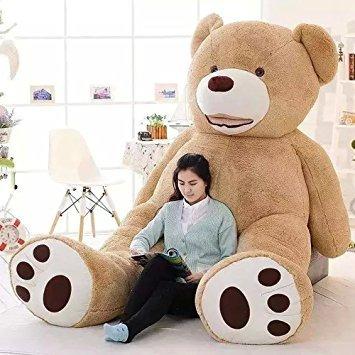 9b6bd8a8f Urso De Pelucia Gigante Teddy Bear - 2 Metros Cheio (200cm) - R  699 ...