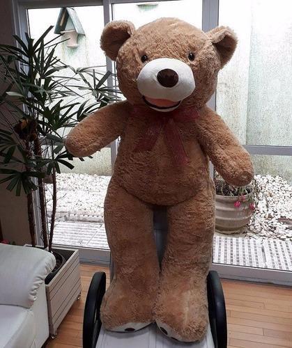urso de pelúcia grande creme 150 cm + recheio envio imediato