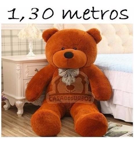 urso de pelúcia marrom presente namorados 130 cm 1,3 metros