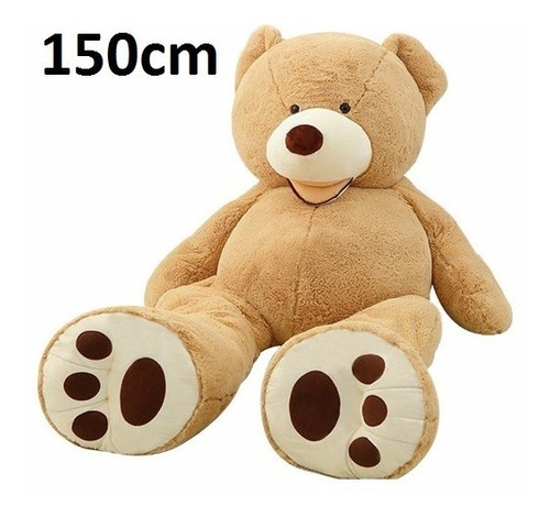 urso enorme fofão gigante de pelúcia com 1,5 metros - 150 cm