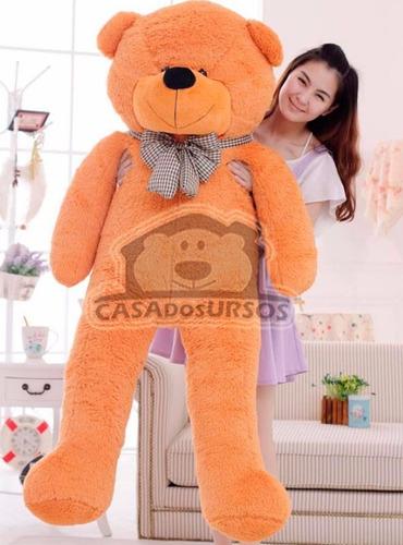 urso gigante caramelo bege pelucia grande 1,4 metros 140cm